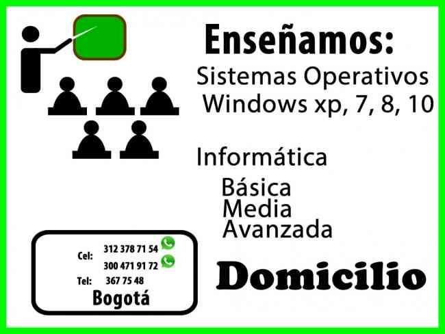 CLASES COMPUTACION DOMICILIOS BOGOTA WHATSAPP 3123787154