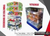 Venta de gondolas, estanterias, vitrinas, puntos de pago, fruver, granel