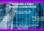 Camarografo, fotografo, videos, seminarios, congresos,