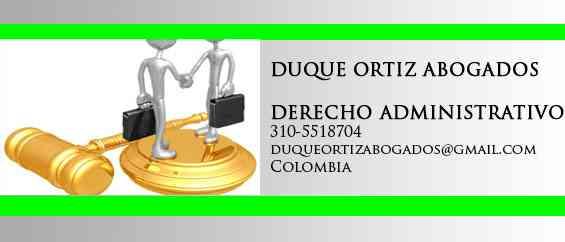 ABOGADOS ADMINISTRATIVOS, DEMANDAS CONTRA EL ESTADO