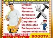 Electricistas, plomeros, pintores, carpinteros, enchapadores, jardineros, soldadores, drywall