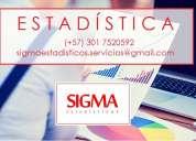 Estadística. clases personalizadas, asesoría para tesis de grado, análisis de dato, capacitacione