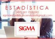 Probabilidad y estadística. clases, asesorías y trabajos.