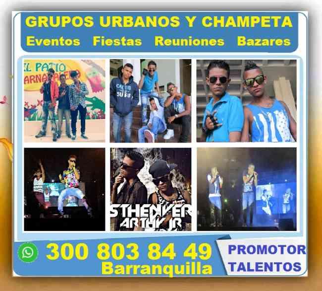Grupos, Champeta, Regueton, Eventos, Fiestas, Reuniones, Bazares, Parranda, Conciertos