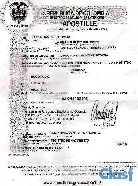 Traducciones oficiales y apostilla en Cartagena  3104846579