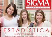 Clases de estadística. trabajos. análisis de datos. sigmaestadísticos por estadísticos profesion