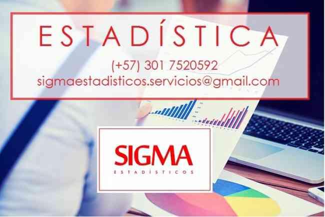 Profesores de Estadística. SigmaEstadísticos. Clases y Asesorías. Somos Estadísticos Profesional