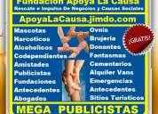 Gratis, fundacion apoya la causa. psicologos, publicistas, mascotas, amistades, abogados,