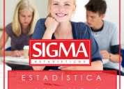 Clases personalizadas. estadística y probabilidad. sigmaestadísticos.
