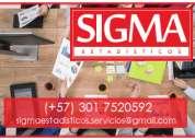 Estadística y probabilidad. trabajos, análisis, tutorías. sigmaestadísticos.