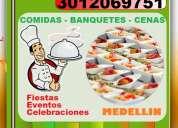 Comidas, banquetes, pasabocas, eventos, fiestas, celebraciones, 15 años, bodas, cumpleaños,