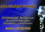 Cantante -  matrimonios, misas y villavicencio. 310-225-72-30