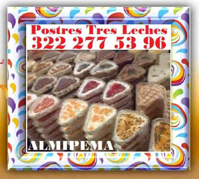 ALMIPEMA, Postres Tres Leches, Al Por Mayor 2.500, Desde 12 Unidades, Unidad a 5 Mil.