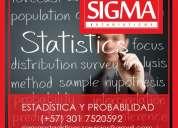 Estadistica. probabilidad. clases. asesorias. analisis. capacitaciones.