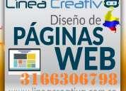 Linea creativa, paginas web, administrables, publicidad, posicionamiento, diseño grafico