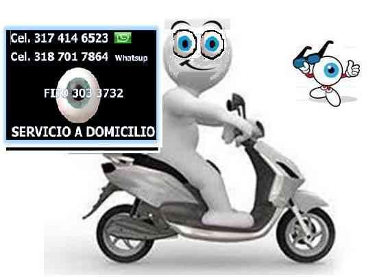 Óptica servicio a Domicilio  cotización y entrega