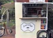 Alquiler de triciclo de carga cafe movil para ventas