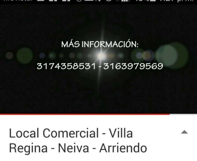 Arriendo Excelente Local, Ver Video Youtube