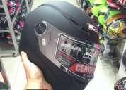 Excelente casco para moto ich negro mate