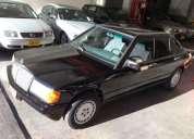 Excelente mercedes benz 190e 1985 negro