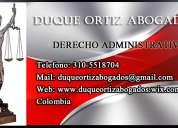 Firma de abogados, derecho administrativo medellin