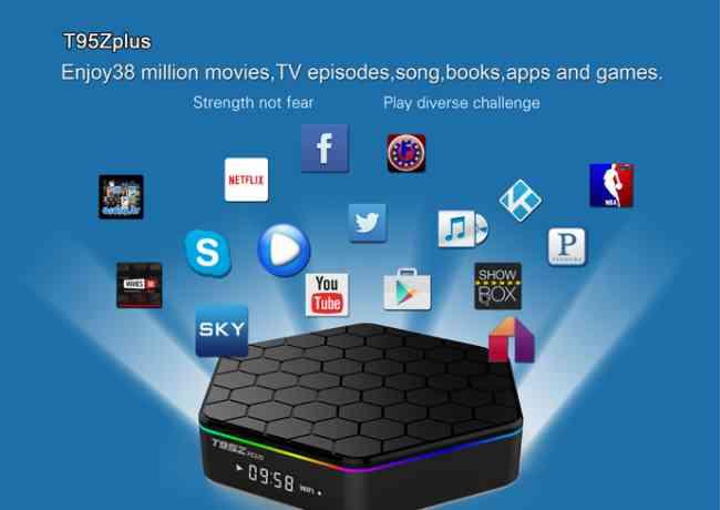 Internet TV BOX S912 CPU adnroid6.0 MINI PC BOX IPTV La Televisión inteligente T95Zplus