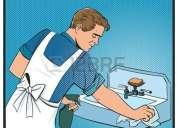 Hombre limpieza doméstica