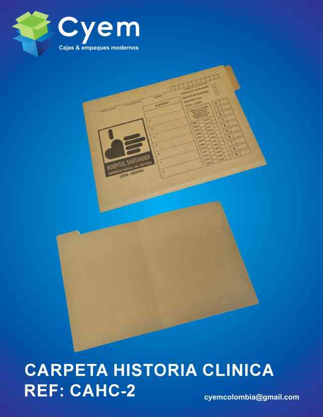 CARPETAS PARA ARCHIVO DE HISTORIA  CLINICAS