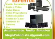 venta, instalacion, audio y video, video beam, teatro en casa, video proyectores, telones