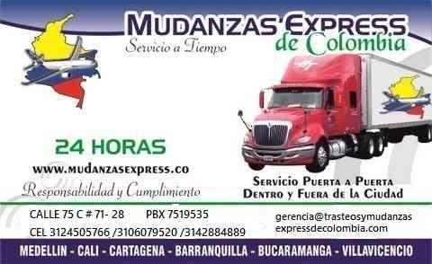 SERVICIOS DE MUDANZAS BODEGAS Y EMPAQUES A NIVEL NACIONALES