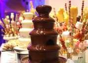 Alquiler fuentes de chocolate eventos