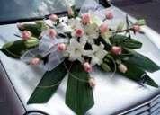 Decoración carro de bodas a domicilio en bogota