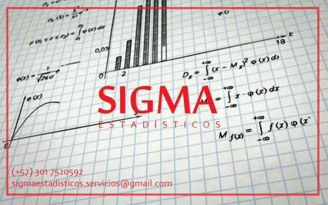 Estadística. Trabajos de Estadística. Sigma Estadísticos. Estadísticos Profesionales.