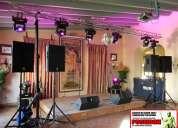 Alquiler de sonido,iluminación,vídeo y efectos para matrimonios y fiestas