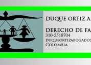 Abogados especialistas en derecho de familia, divorcios, proceso de alimentos