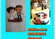 Lindas figura en caricatura para bodas ,cumpleaños o un detalle