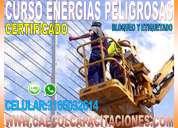 Certificado curso energias peligrosas.