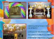 A. venta globos inflados con helio, decoraciones, estampados, domicilios