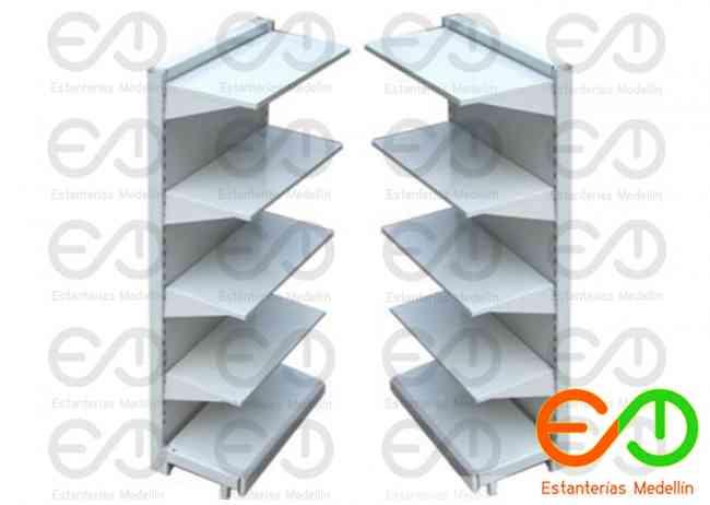 estanterias gondolas metalicas para supermercados en medellin