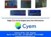 Placas y etiquetas para inventario de activos, stikers adhesivos holograficos