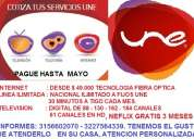 Internet - linea - tv. digital: pague hasta mayo