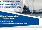 Servicio tecnico en mantenimiento de maquinas de coser / confeccion reparacion