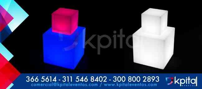 Alquiler y venta de Mobiliario LED o muebles iluminados (Bogotá )