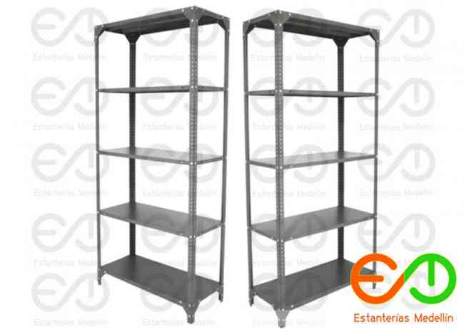 estanterias metalicas equipamiento comercial angulo ranurado medellin colombia