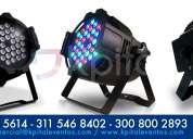 Alquiler y venta de reflectores par led 64 rgbw - iluminación perimetral
