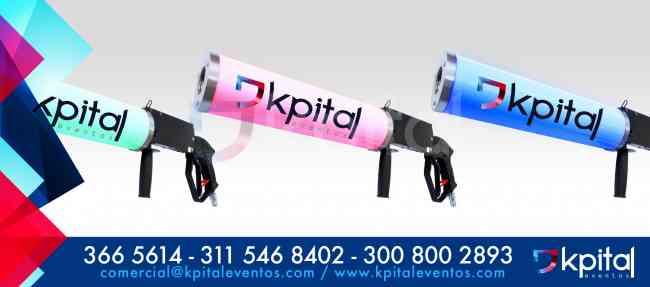 Alquiler y venta de Pistolas de CO2 LED para todo tipo de show (Bogotá – Colombia)
