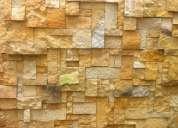 Enchapes hechos en piedra natural para pisos y muros