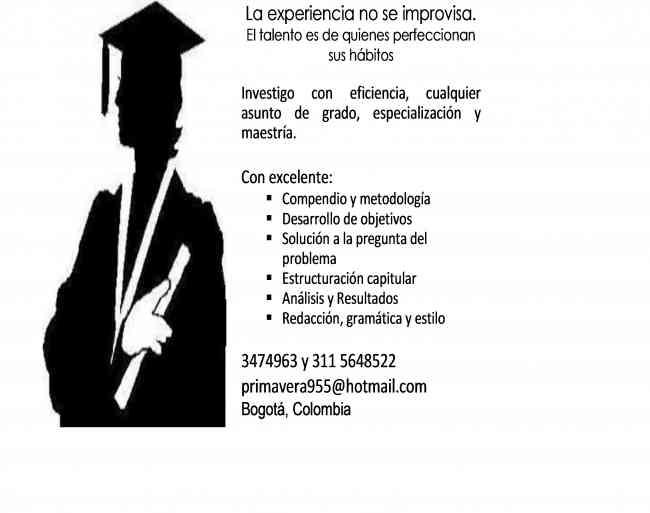 HAGO TAREAS DEL COLEGIO y UNIVERSIDAD. ENSAYOS Y TESIS 3115648522