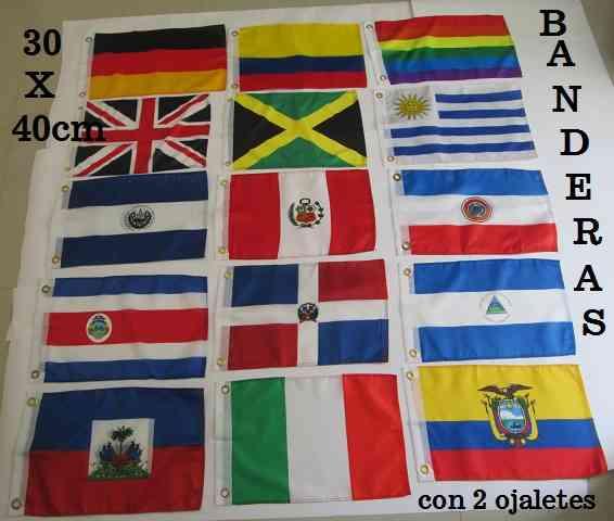 Banderas de Todos los Paises ! Tamaño 90x150cm Doble Faz Polyester