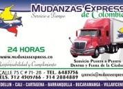 Mudanzas  express de colombia  - excelente servicio en mudanzas -nacionales y locales
